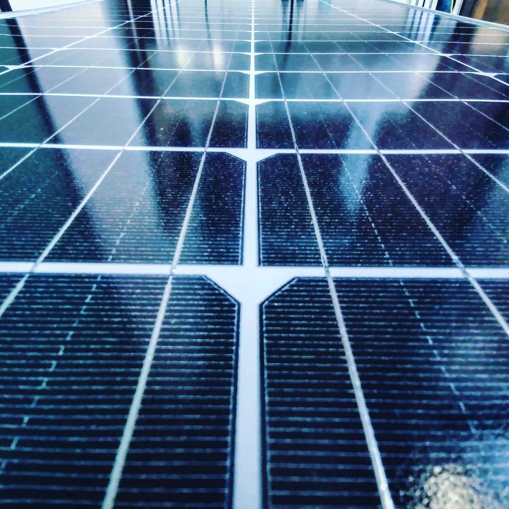 Foto einer Solarzelle