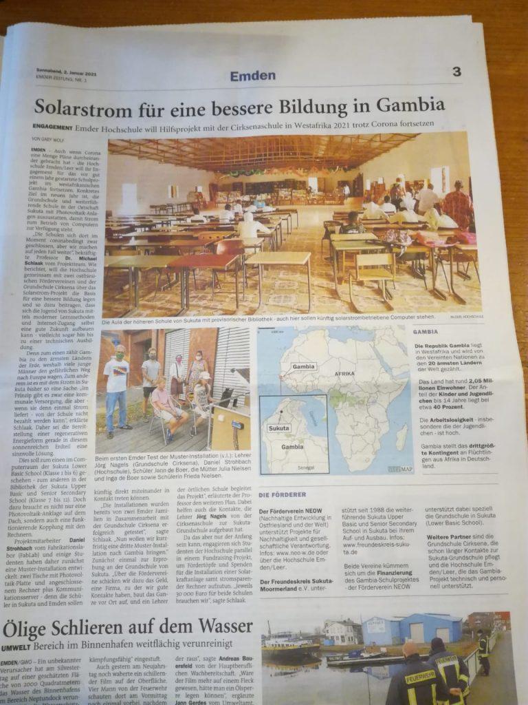 Zeitungsartikel EZ - 2. Januar 2021