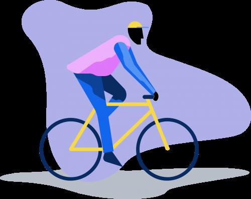 Illustration fahrrad