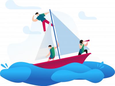 Illustratiion Segelschiff